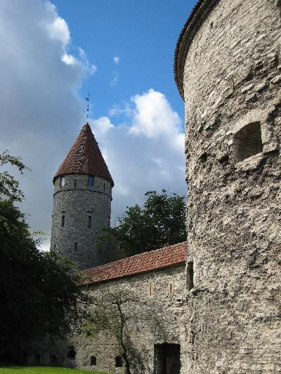 Fortified wall surrounding Tallinn, Estonia