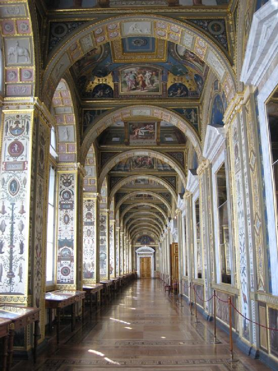 Grand Hallway in the Winter Palace in the Hermitage