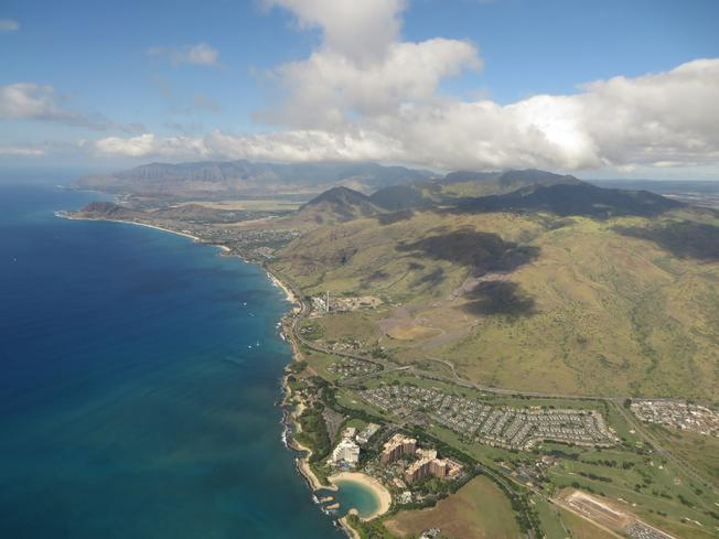 Coming in for a Landing on Oahu